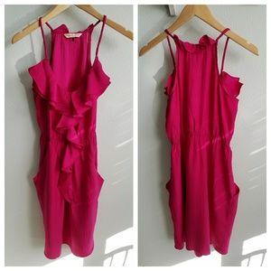 Rebecca Taylor pink silk dress 4